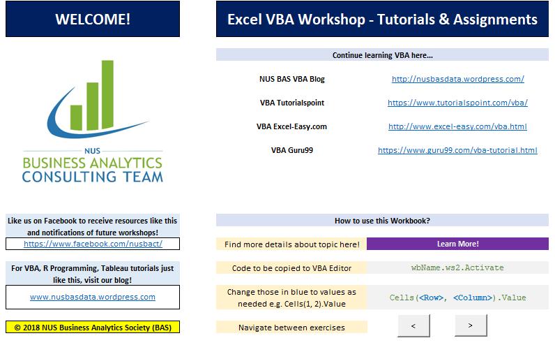 VBA Internship Tutorial 1: The Basics – NUS BACT